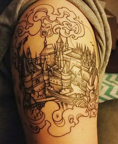 Beginning of a Harry Potter sleeve by Betsy Butler at Roses and Ruins, Charleston, SC