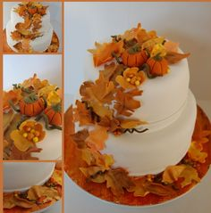 Fall inspired Thanksgiving cake   www.itsacakething.ca