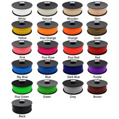 ANYCUBIC printer filament ABS plastic Rubber Consumables Material with 21 kinds colours supply you choose Color 3d Printer, Prusa I3, Multifunction Printer, 3d Printer Filament, 3d Printer Supplies, 3d Pen, Purple Yellow, Tv Videos, Creative Gifts