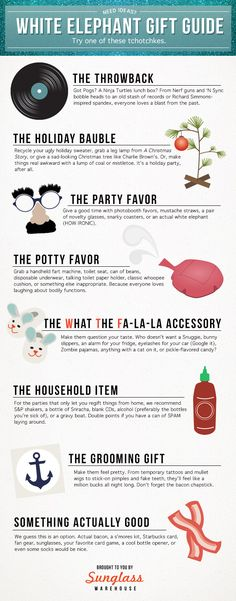 The most clever White Elephant gift ideas! #whiteelephant #holiday #party #giftexchange