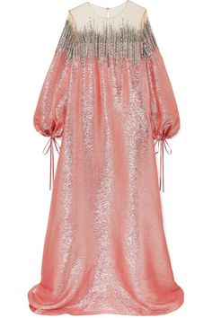 OSCAR DE LA RENTA Embellished silk-lamé and tulle gown€4,865