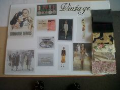 vintage fashion mood board