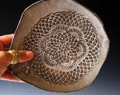 PASTA Bowls in Terracotta and Blue Ceramic by BlueDoorCeramics