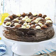 Recept - Chocoladetaart met ganache en paaseitjes - Allerhande