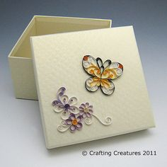 Quilled butterfly box by all things paper