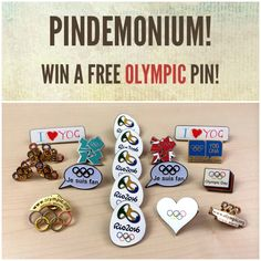 Enter to win a free Olympic pin!