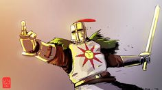 Dark Souls,фэндомы,DS art,Solaire of Astora,DS персонажи