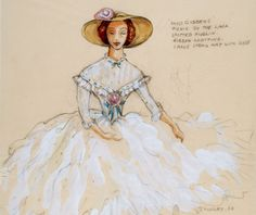 Costume designs by Motley for Deborah Kerr inThe Innocents Fripperies and Fobs