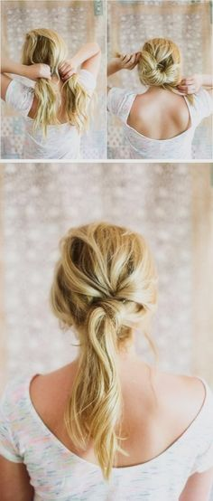 twisted ponytail.