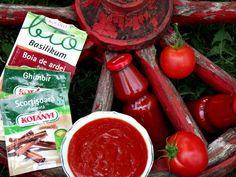 ketchup de casa Ketchup, Pickles, Salsa, Jar, Vegetables, Food, Sweets, Canning, Basil