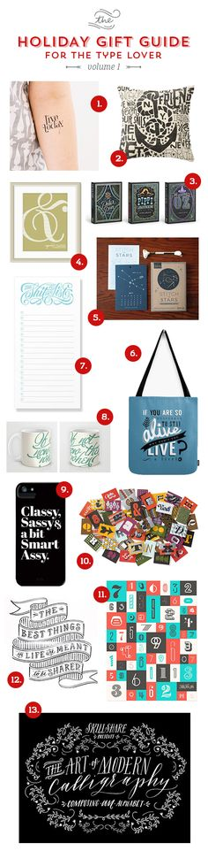 // On The Blog: Holiday Gift Guide For The Type Lover - Volume 1