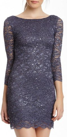 Jump Glitter Lace Dress-comfy but classy!