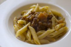 For a rich and decadent pasta sauce, combine the pumpkin puree with cream and cheese, then toss with cooked pasta. (Alternatively, try it in a ragù sauce.) Source: Flickr user Luca Nebuloni