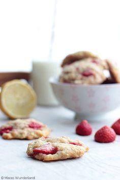 Erdbeer-Zitronen-Cookies mit weißer Schoki