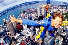 Jumped off the Auckland Sky Tower (attached to a zip line of course!)