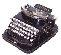 The 1928 Bing No. 2 Typewriter