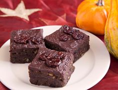 A Thanksgiving Treat: Chocolate-Cherry Cranberry Squares - Udo's Choice Beyond Greens #recipe