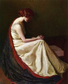 """The Chrystal Glazer"" -- Lilla Cabot Perry (1848 – 1933, American)"