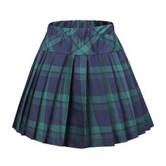 Urban CoCo Womens Elastic Waist Tartan Pleated School Skirt Medium series 1 green -- Click image for more details. (This is an affiliate link) Blue Plaid Skirt, Plaid Pleated Skirt, Plaid Skirts, Mini Skirts, Skater Skirts, Green Skirts, Women's Skirts, Pleated School Skirt, Pleated Skirt Pattern