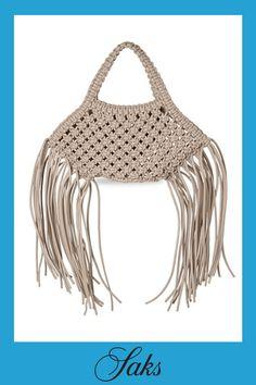 Chloe Handbags, Boho Bags, Red Handbag, Macrame Projects, Basket Bag, Fringe Trim, Fashion Handbags, Vegan Leather, Crochet Top