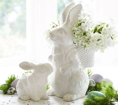 [Holidays and events]Easter Decorations Ideas pottery barn Pottery Barn Easter, Easter Crafts, Easter Decor, Easter Ideas, Easter Centerpiece, Easter Bunny Decorations, Centerpieces, Mosaic Crafts, Easter Table