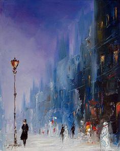The dance of light in Venice | Marek Langowski | Polish Impressionist painter