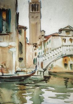 John Singer Sargent - A Bridge and Campanile, Venice at National Gallery of Art Washington DC