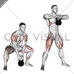 Kettlebell Sumo High Pull - Gym visual