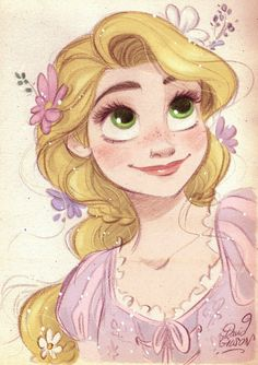 Rapunzel fanart from Disney Tangled by David Gilson. Das ist ein toller Ex Rapunzel fanart from Disney Tangled by David Gilson. Disney Princess Drawings, Disney Princess Art, Disney Rapunzel, Arte Disney, Disney Sketches, Disney Fan Art, Disney Drawings, Disney Love, Cute Drawings