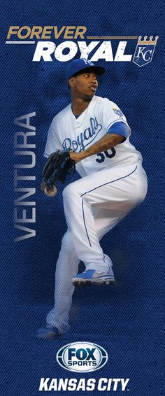 2015 'Forever Royal' pole banners | FOX Sports - Yordano Ventura Kc Royals Baseball, Royals Mlb, Sports Baseball, Basketball, Sports Teams, Pole Banners, Sports Banners, Fox Sports, Spring Training