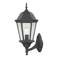 Westmore Lighting Fleming 20.5-in H Matte Textured Black Outdoor Wall Light