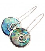 Stone Arrow Paua Earrings
