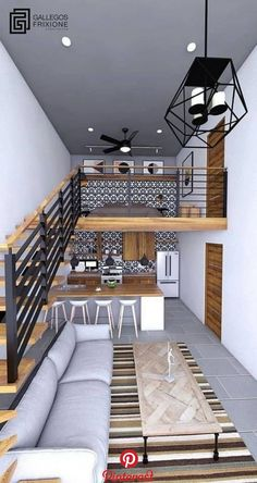 tiny house design / tiny house - tiny house plans - tiny house design - tiny house living - tiny house ideas - tiny house on wheels - tiny house bathroom - tiny house interior House Floor Design, Small House Design, Modern House Design, Modern Tiny House, Modern Home Interior Design, Interior Design Living Room, Room Interior, Simple Interior, Loft Interiors