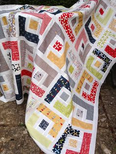 Mack and Mabel: Weekend #Jelly Roll Quilt Top