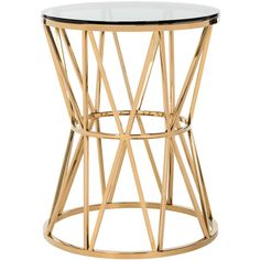 Safavieh Delsy Glass Top End Table Gold (23.865 RUB) ❤ liked on Polyvore featuring home, furniture, tables, accent tables, gold end table, gold side table, safavieh furniture, safavieh accent table and glass top accent table