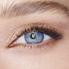 Shimmery Gold Eyeshadow   Hair and Beauty