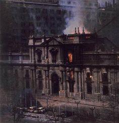 La Moneda en llamas Pablo Neruda, Military Coup, Latin America, History, Pictures, Llamas, Nostalgia, Freedom, Lost