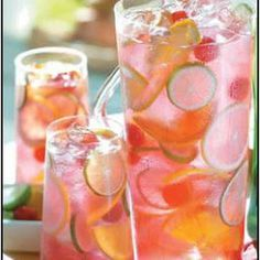 Raspberry Tequila Sangria- trying this pretty drink for Easter Brunch