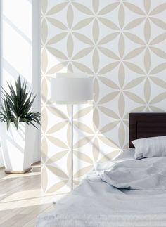 Flower of Life II Scandinavian Wall Template for DIY Project, Wallpaper Look . Flower of Life II Scandinavian Wall Template for DIY Project, Wallpaper Look . Decor, Stencils Wall, Simple Decor, Wall Decor, Easy Home Decor, Large Wall Stencil, Expensive Wallpaper, Home Decor, Stencil Furniture