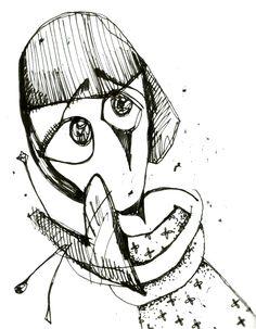 by Anya Katamari   #illustration #katamariart #handdraw #graphics #black #white #girl #anyakatamari #loneliness