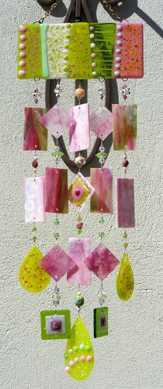 Etsy Transaction - Kirks Glass Art Fused Stained Glass Wind Chime windchime