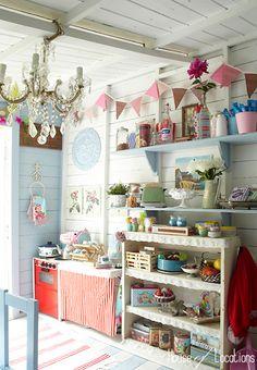 english beach hut interiors - Google Search