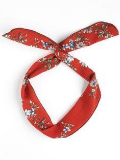 Vintage Flower Print Headband