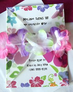 DIY, Luau Party, Hibiscus Pink Printables - Party Supplies and Decorations $15 for a full set.