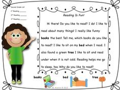 20 Leveled Fluency Passages for grade 2 Reading Fluency, Kindergarten Reading, Teaching Reading, Reading Groups, Guided Reading, Learning, Teaching Language Arts, Classroom Language, Reading Resources