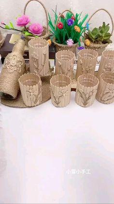 Diy Crafts For Home Decor, Diy Crafts To Do, Diy Crafts Hacks, Diy Arts And Crafts, Craft Stick Crafts, Creative Crafts, Paper Crafts Origami, Bottle Crafts, Tricks