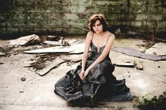 Senior Pictures - Girl, Trash the Dress, Prom Dress, Grunge, Urban, Fashion, Model, Pose, Poses | Indianapolis Senior Photographer