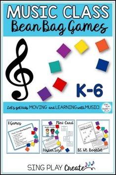 Music Class Bean Bag Games - Orff Lessons, Songs, Games and Ideas - Education Preschool Music, Music Activities, Teaching Music, Learning Piano, Holiday Activities, Educational Activities, Physical Activities, Singing Games, Singing Lessons