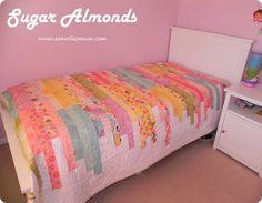 Twin Size Quilt http://www.sameliasmum.com/2012/07/sugar-almonds-quilt-pattern-tutorial.html