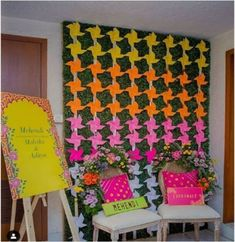 Easy DIY Decor Ideas To Add To Your Intimate Indian Wedding in 2020 Engagement Decorations, Indian Wedding Decorations, Mehndi Decor, Mehendi, Elegant Chandeliers, Haldi Ceremony, Diy Backdrop, Light Images, Giant Paper Flowers